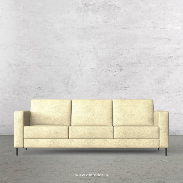 NIRVANA 3 Seater Sofa in Fab Leather Fabric - SFA016 FL10