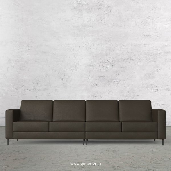 NIRVANA 4 Seater Sofa in Fab Leather Fabric - SFA016 FL11
