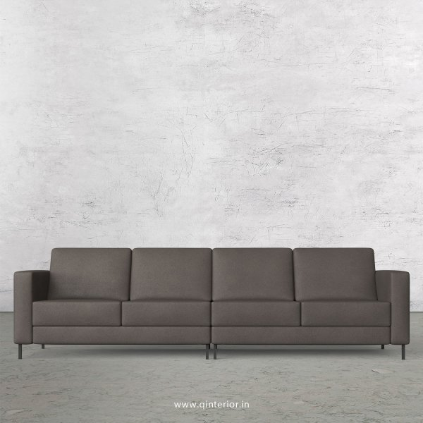 NIRVANA 4 Seater Sofa in Fab Leather Fabric - SFA016 FL15