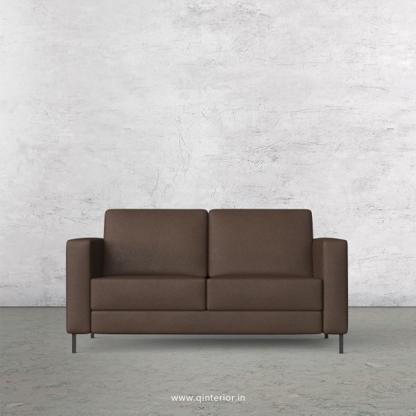 NIRVANA 2 Seater Sofa in Fab Leather Fabric - SFA016 FL16