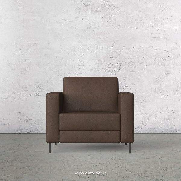 NIRVANA 1 Seater Sofa in Fab Leather Fabric - SFA016 FL16