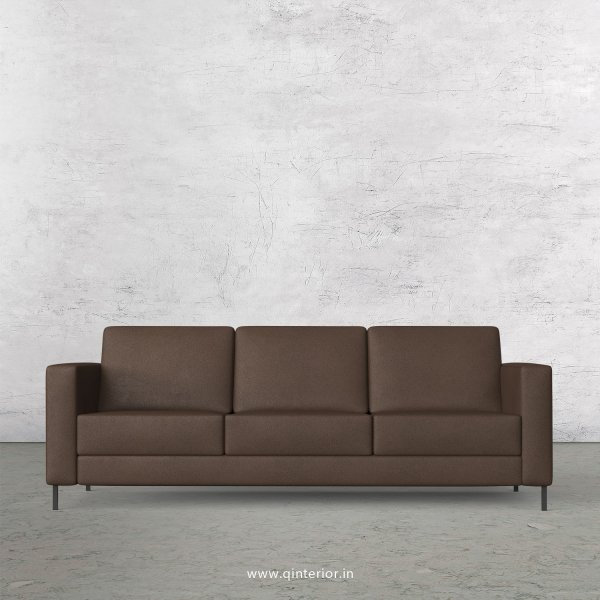 NIRVANA 3 Seater Sofa in Fab Leather Fabric - SFA016 FL16