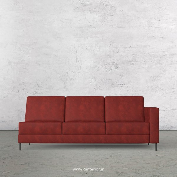 Nirvana 3 Seater Modular Sofa in Fab Leather Fabric - MSFA007 FL17