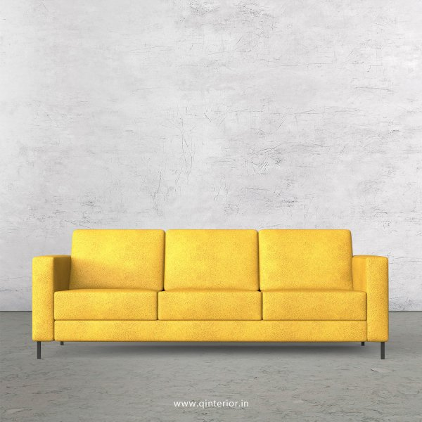 NIRVANA 3 Seater Sofa in Fab Leather Fabric - SFA016 FL18
