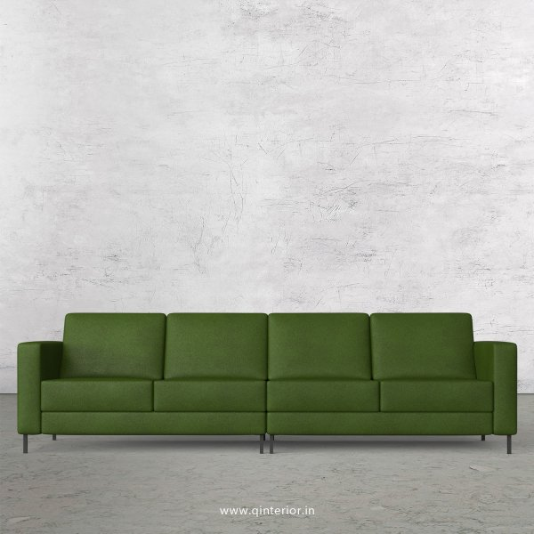 NIRVANA 4 Seater Sofa in Fab Leather Fabric - SFA016 FL04