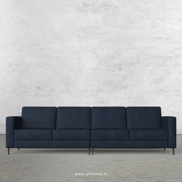 NIRVANA 4 Seater Sofa in Fab Leather Fabric - SFA016 FL05