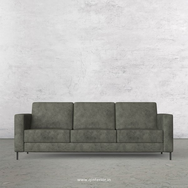 NIRVANA 3 Seater Sofa in Fab Leather Fabric - SFA016 FL07