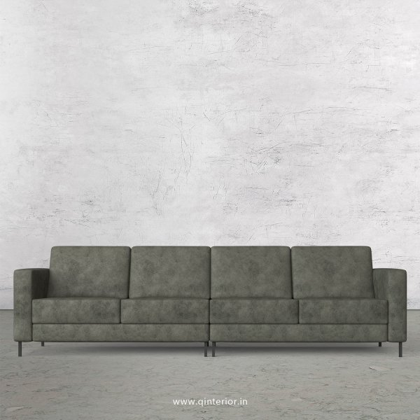 NIRVANA 4 Seater Sofa in Fab Leather Fabric - SFA016 FL07