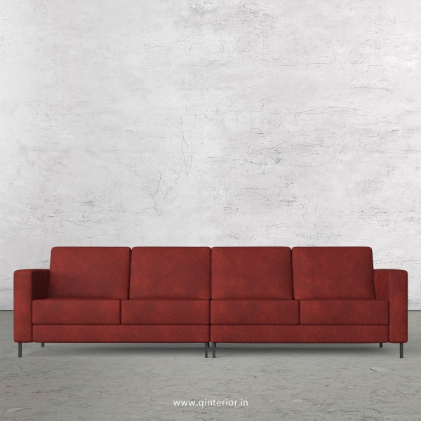 NIRVANA 4 Seater Sofa in Fab Leather Fabric - SFA016 FL08