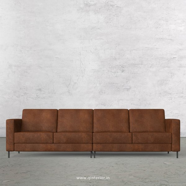 NIRVANA 4 Seater Sofa in Fab Leather Fabric - SFA016 FL09