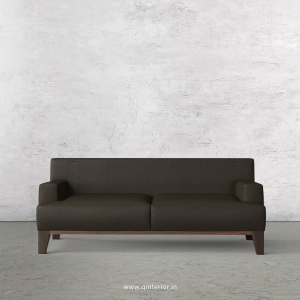 QUADRO 2 Seater Sofa in Fab Leather Fabric- SFA010 FL11