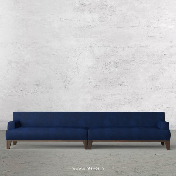 QUADRO 4 Seater Sofa in Fab Leather Fabric - SFA010 FL13