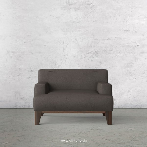 QUADRO 1 Seater Sofa in Fab Leather Fabric - SFA010 FL15