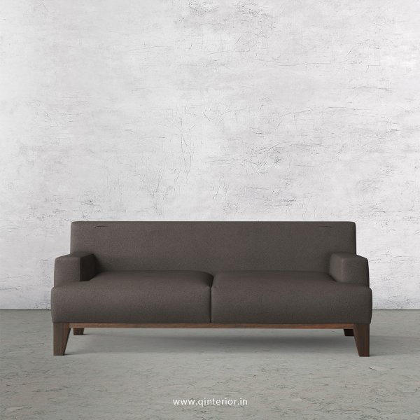 QUADRO 2 Seater Sofa in Fab Leather Fabric- SFA010 FL15