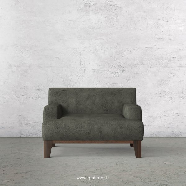 QUADRO 1 Seater Sofa in Fab Leather Fabric - SFA010 FL07