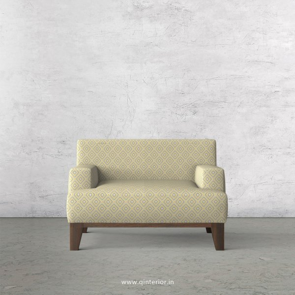 QUADRO 1 Seater Sofa in Jacquard Fabric - SFA010 JQ29