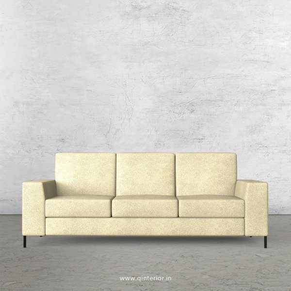 Viva 3 Seater Sofa in Fab Leather Fabric - SFA015 FL10