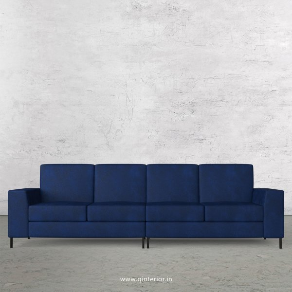 Viva 4 Seater Sofa in Fab Leather Fabric - SFA015 FL13