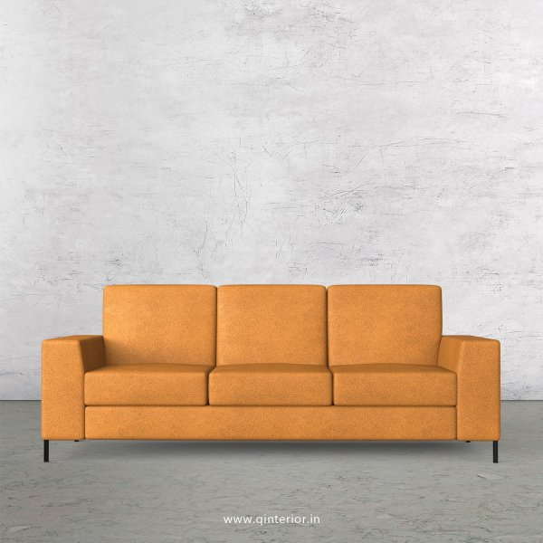 Viva 3 Seater Sofa in Fab Leather Fabric - SFA015 FL14