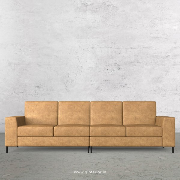 Viva 4 Seater Sofa in Fab Leather Fabric - SFA015 FL02