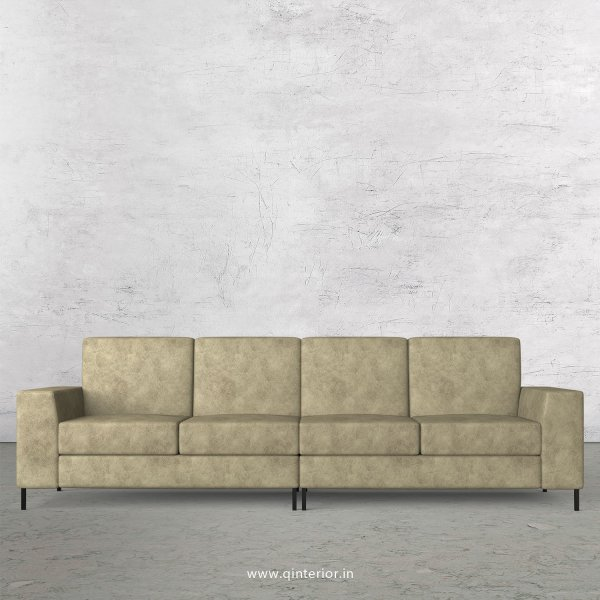 Viva 4 Seater Sofa in Fab Leather Fabric - SFA015 FL03