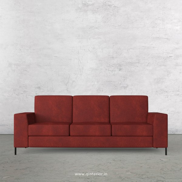Viva 3 Seater Sofa in Fab Leather Fabric - SFA015 FL08