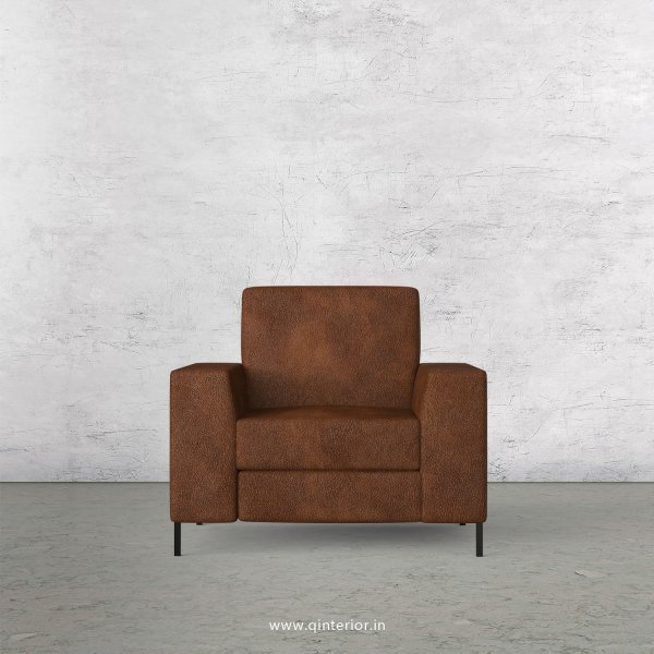 Viva 1 Seater Sofa in Fab Leather Fabric - SFA015 FL09