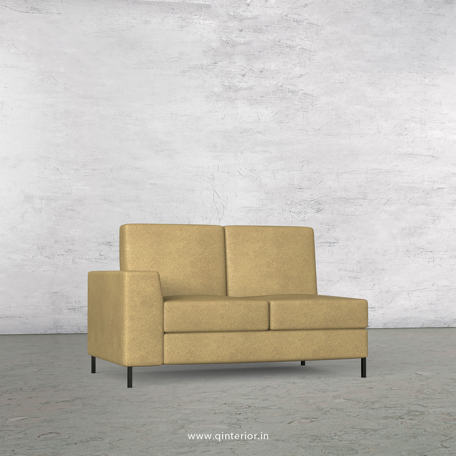 Viva 2 Seater Modular Sofa in Fab Leather Fabric - MSFA002 FL01
