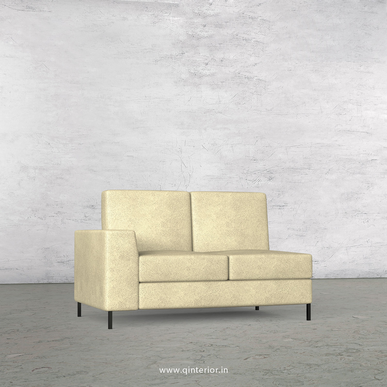 Viva 2 Seater Modular Sofa in Fab Leather Fabric - MSFA002 FL10