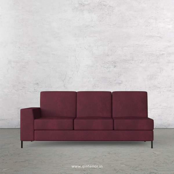 Viva 3 Seater Modular Sofa in Fab Leather Fabric - MSFA003 FL12