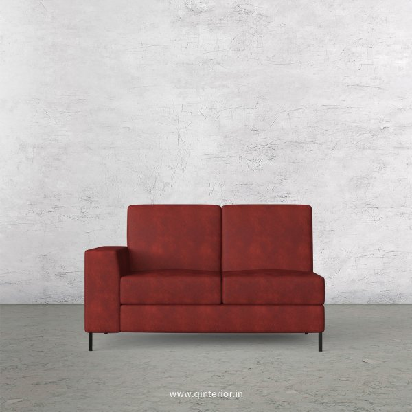 Viva 2 Seater Modular Sofa in Fab Leather Fabric - MSFA002 FL17