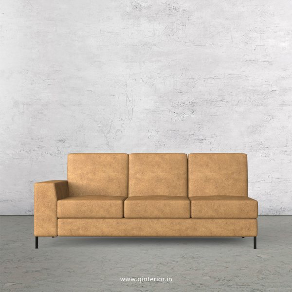 Viva 3 Seater Modular Sofa in Fab Leather Fabric - MSFA003 FL02