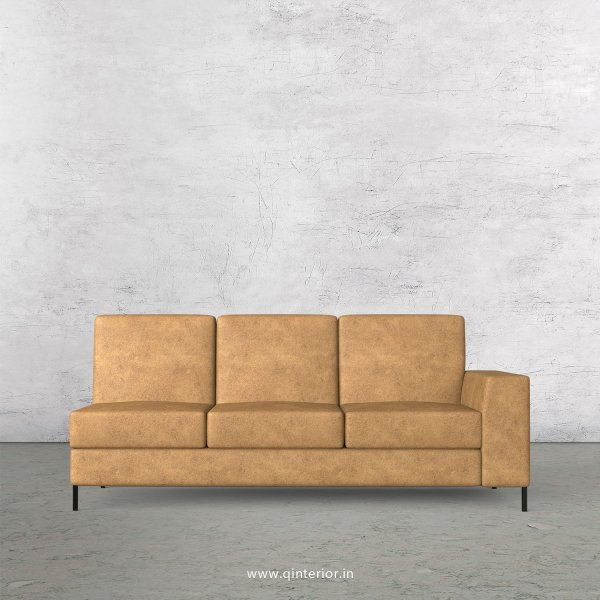 Viva 3 Seater Modular Sofa in Fab Leather Fabric - MSFA007 FL02