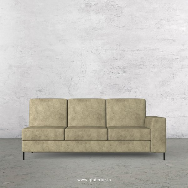 Viva 3 Seater Modular Sofa in Fab Leather Fabric - MSFA007 FL03