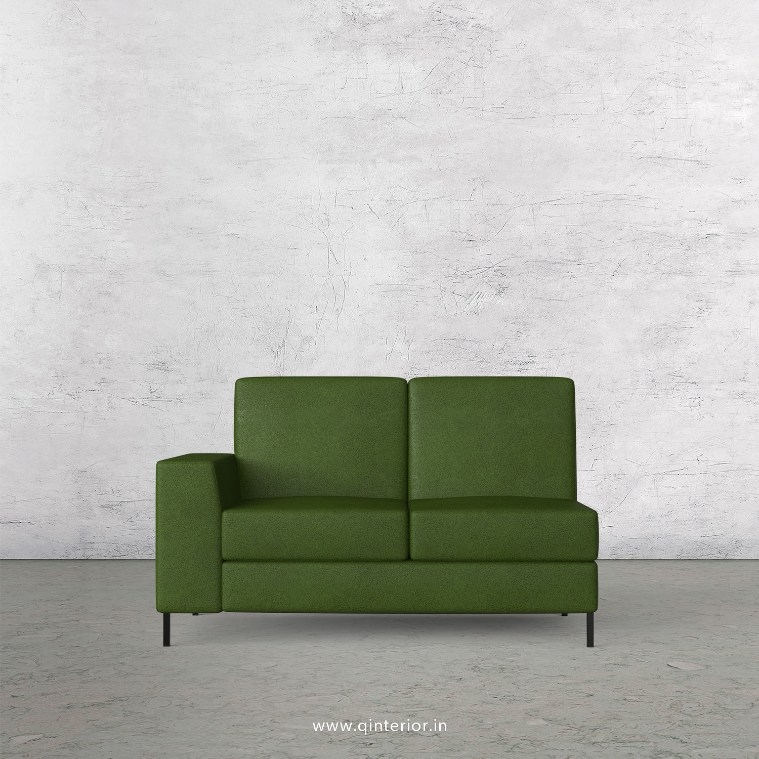 Viva 2 Seater Modular Sofa in Fab Leather Fabric - MSFA002 FL04
