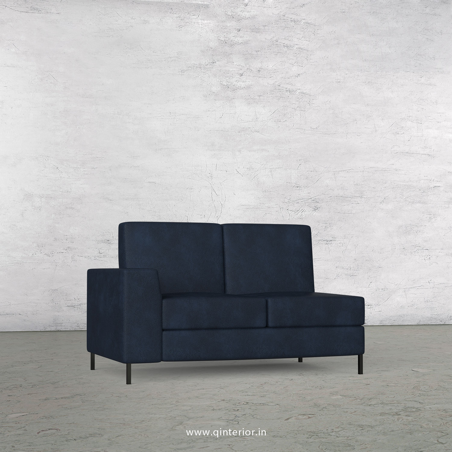 Viva 2 Seater Modular Sofa in Fab Leather Fabric - MSFA002 FL05
