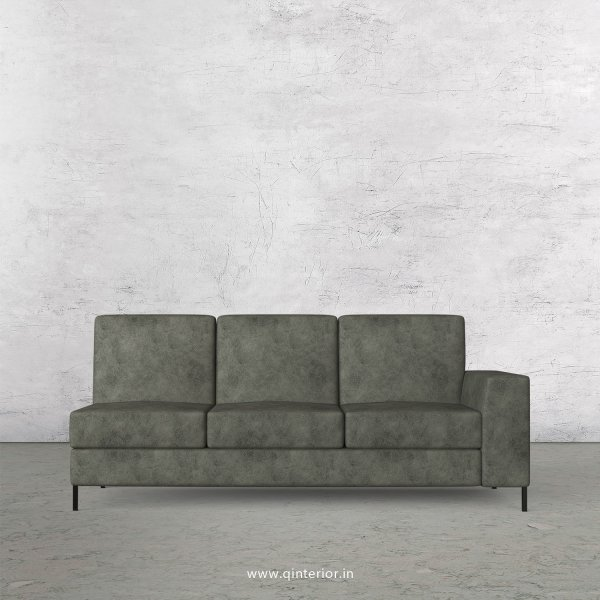 Viva 3 Seater Modular Sofa in Fab Leather Fabric - MSFA007 FL07