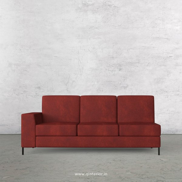 Viva 3 Seater Modular Sofa in Fab Leather Fabric - MSFA003 FL08