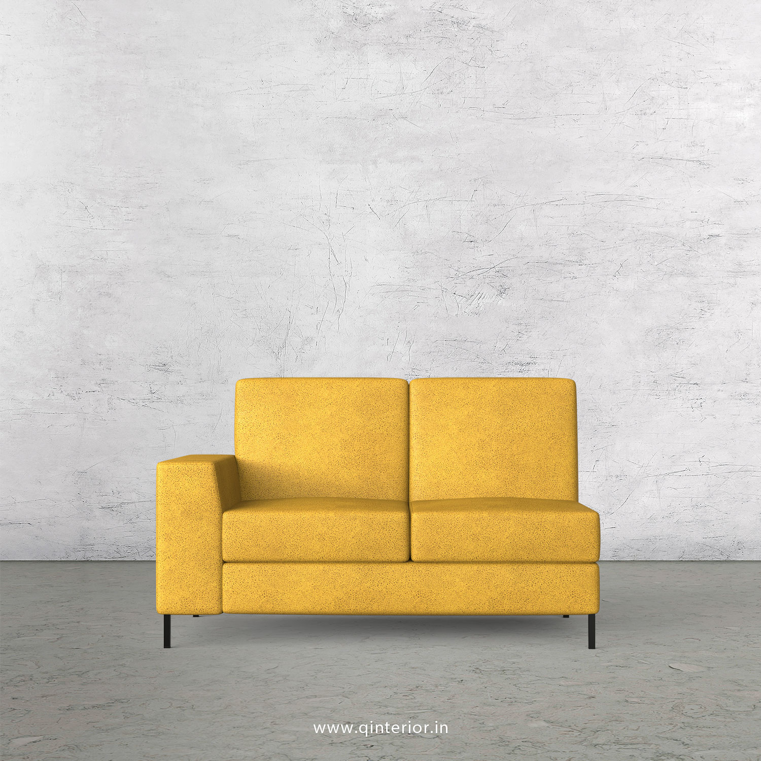 Viva 2 Seater Modular Sofa in Fab Leather Fabric - MSFA002 FL18