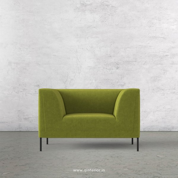 LUXURA 1 Seater Sofa in Velvet Fabric - SFA017 VL10