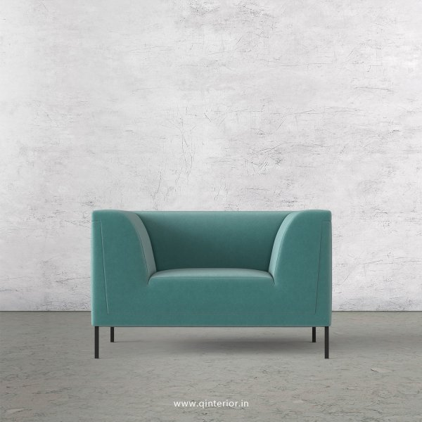 LUXURA 1 Seater Sofa in Velvet Fabric - SFA017 VL14
