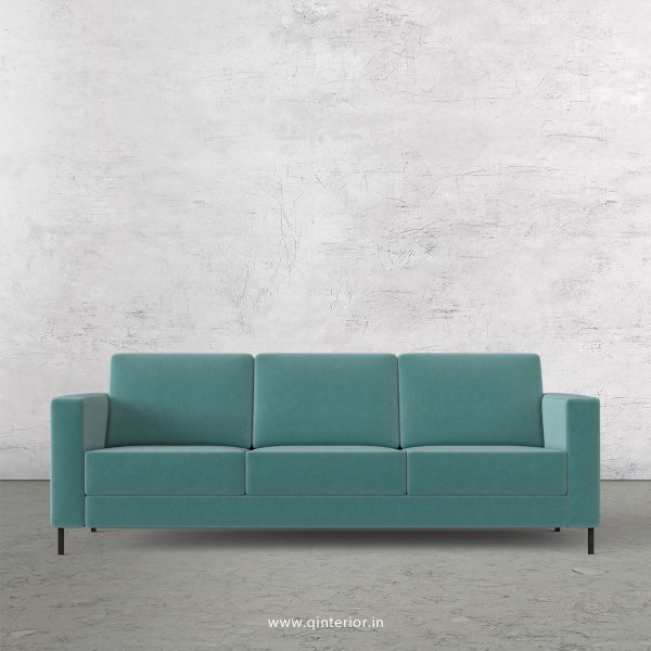 NIRVANA 3 Seater Sofa in Velvet Fabric - SFA016 VL14