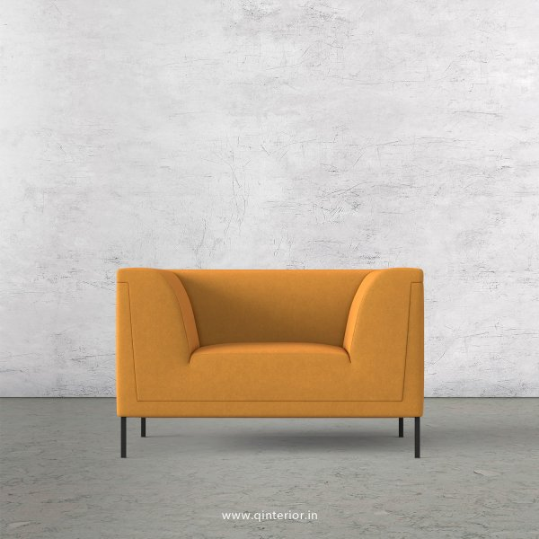 LUXURA 1 Seater Sofa in Velvet Fabric - SFA017 VL18