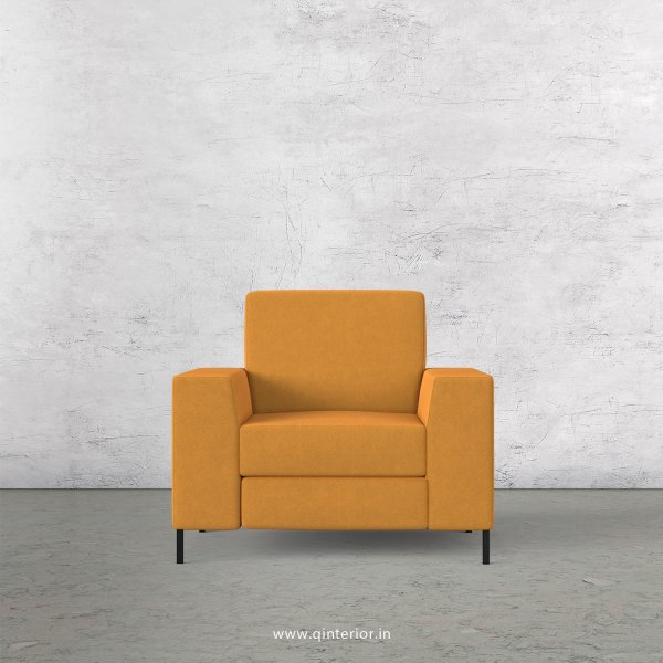 Viva 1 Seater Sofa in Velvet Fabric - SFA015 VL18