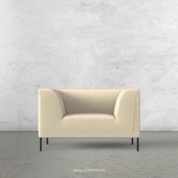 LUXURA 1 Seater Sofa in Velvet Fabric - SFA017 VL01