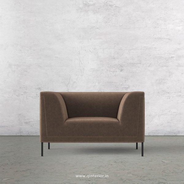 LUXURA 1 Seater Sofa in Velvet Fabric - SFA017 VL02