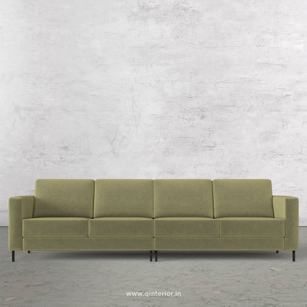 NIRVANA 4 Seater Sofa in Velvet Fabric - SFA016 VL04
