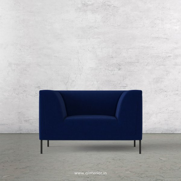LUXURA 1 Seater Sofa in Velvet Fabric - SFA017 VL05