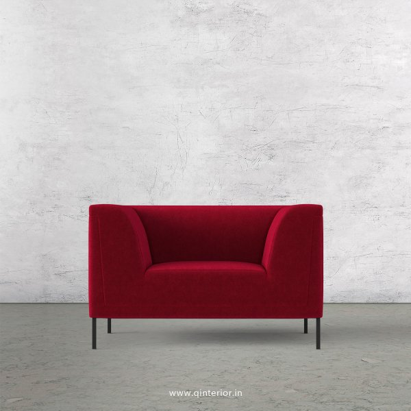 LUXURA 1 Seater Sofa in Velvet Fabric - SFA017 VL08