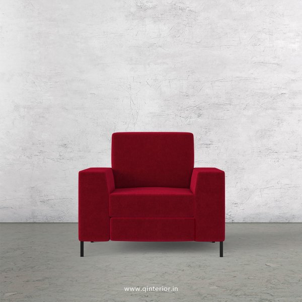 Viva 1 Seater Sofa in Velvet Fabric - SFA015 VL08